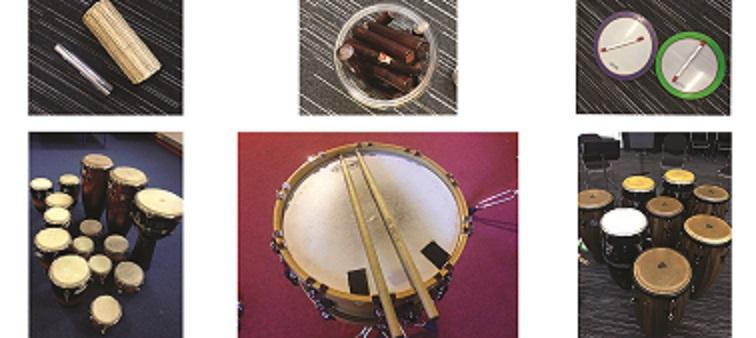 drumming workshops for schools - drum instruments