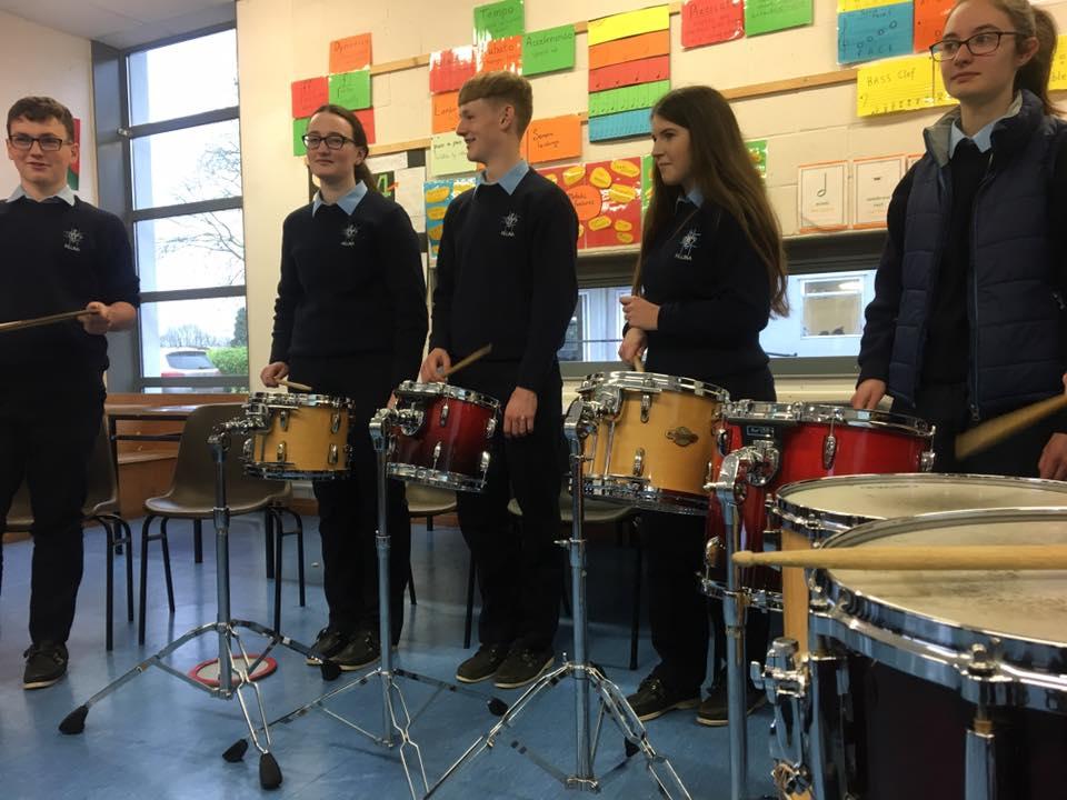 TY Workshops - drumming workshops for secondary schools - Killina Presentation Secondary School