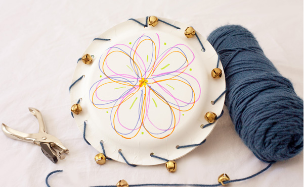 How to Make a Paper Plate Tambourine